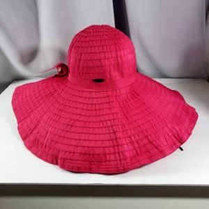Sun –n- Sand Ribbon, Beach Hat, Hot Pink, Strap